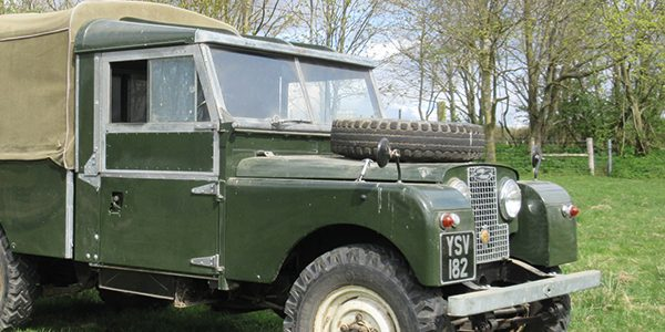 Vintage machinery collection sale includes Series 1 Land Rover
